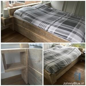 bed maatwerk eenpersoonsbed tweepersoonsbed steigerhout