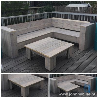 Hoekbank Roos, gemaakt van steigerhout | JohnnyBlue