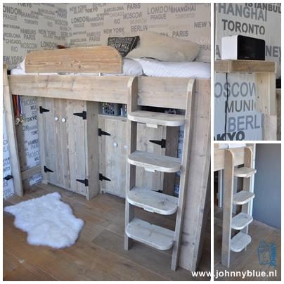 (Half) Hoogslaper Romée Specificaties: - vaste trap (links of rechts) - nachtkastje