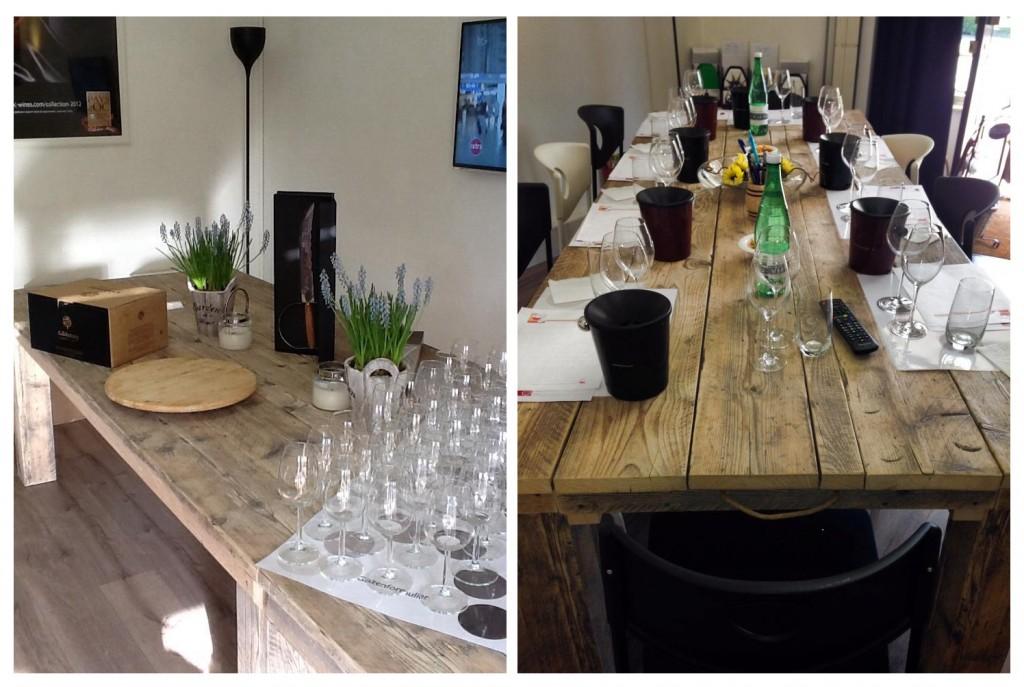 Tafel Wine Een slimme tafel voor kleine en grote gezelschappen: aan beide kopse kanten is de tafel te verlengen met een los verlengstuk. Zo kun je zelf bepalen met hoeveel mensen je wilt eten of, in het geval van deze tafel, een wijnproeverij wilt houden. Maten zijn dan ook in overleg, prijs op aanvraag