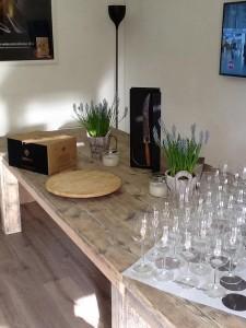 Tafel 'Wine' In lengte verstelbaar