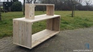 Mobiele display steigerhout 3