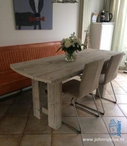 Klantreactie - 20-9-2016 - Louise Johnny Blue / Jan en Jolanda de Vries: super blij met de nieuwe tafel. Hij past perfect!!!!! Groet, Louise